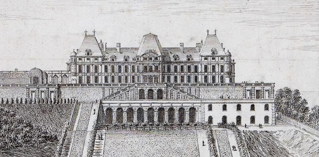 facade jardin chateau vieux