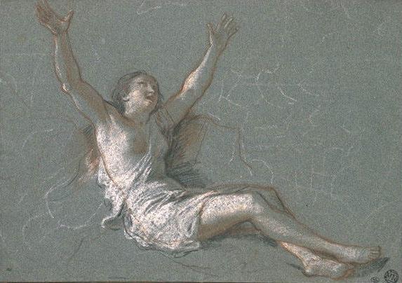 psyché dessin les bras levée au ciel